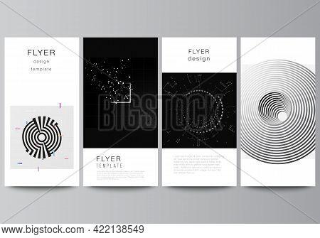 Vector Layout Of Flyer, Banner Design Templates For Website Design, Vertical Flyer Design, Website D