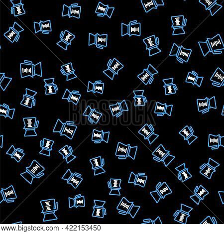 Line Pour Over Coffee Maker Icon Isolated Seamless Pattern On Black Background. Alternative Methods