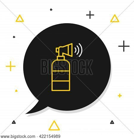 Line Air Horn Icon Isolated On White Background. Sport Fans Or Citizens Against Government And Corru