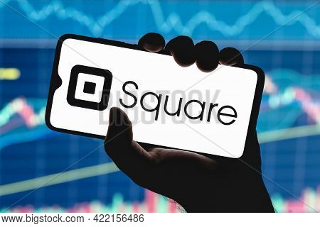 Kazan, Russia - May 30, 2021: Square, Inc. Is An American Technology Company That Develops Solutions