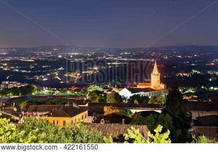 Santa Giuliana Church In Perugia, Italy At Night