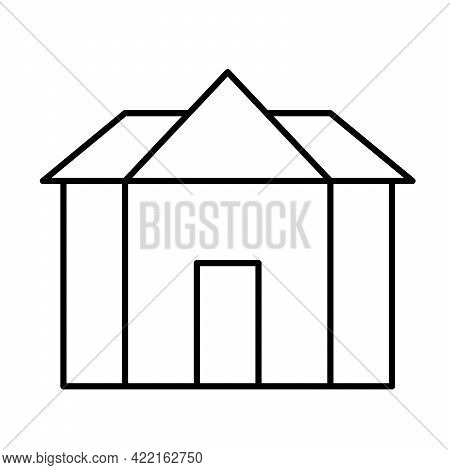 Luxury Mansion - Modern Thin Line Icon. Simple Black Outline Vector Illustration.