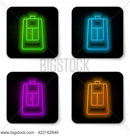 Glowing Neon Line Car Key With Remote Icon Isolated On White Background. Car Key And Alarm System. B