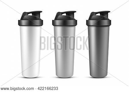 Protein Shaker, Cup For Sports Nutrition, Gainer Or Whey Shake Drink. Plastic Sport Bottle, Mixer Fo