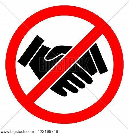 Forbidden Handshake Vector Icon. A Flat Illustration Design Of Forbidden Handshake Icon On A White B
