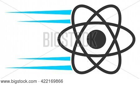 Rush Atom Vector Illustration. A Flat Illustration Design Of Rush Atom Icon On A White Background.