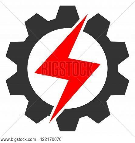 Energy Industry Vector Illustration. A Flat Illustration Design Of Energy Industry Icon On A White B