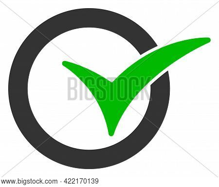 Yes Vote Vector Icon. A Flat Illustration Design Of Yes Vote Icon On A White Background.