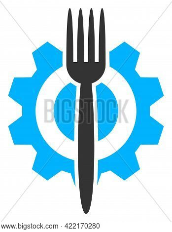 Food Hitech Vector Icon. A Flat Illustration Design Of Food Hitech Icon On A White Background.
