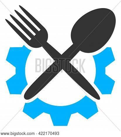 Food Industry Vector Icon. A Flat Illustration Design Of Food Industry Icon On A White Background.