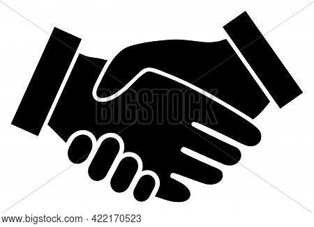 Handshake Vector Icon. A Flat Illustration Design Of Handshake Icon On A White Background.