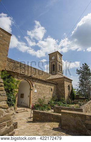 Montclar, Spain, May 1, 2020 - Old Churc Of Medieval Montclar Castle In Lleida Province Old Medieval