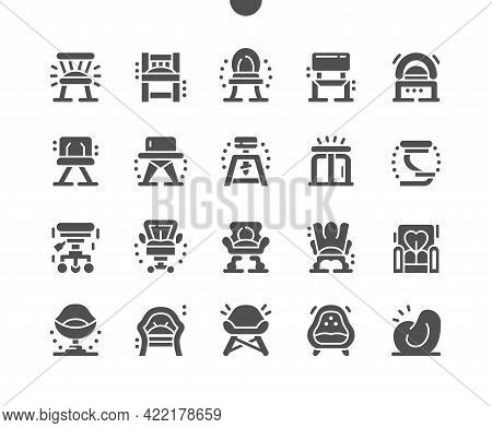 Chair Types. Pouf, Stool, Bar Chair, Office Chair, Child Chair, Lounge Chair. Different Types Of Cha