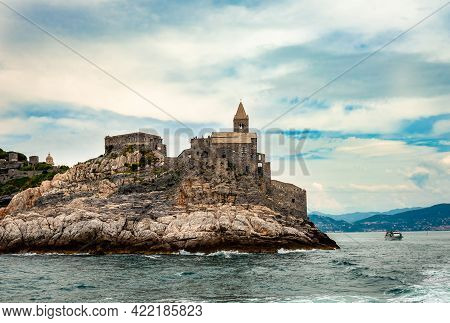 The Church Of St. Peter, A Roman Catholic Church In Portovenere, Italy, In The Gulf Of Poets In The