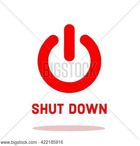 Illustration Of The Close Button. Shutdown Button