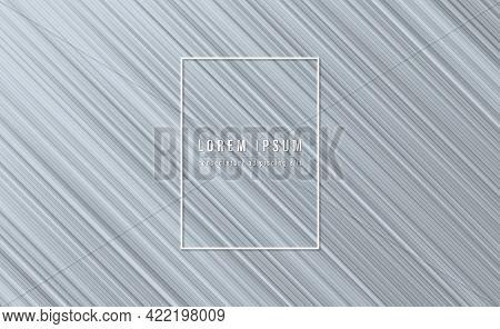 Oblique Line Striped Gray Abstract Background. Graphic Design Element. Elegant Decoration. Vector Il