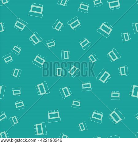 Green Fuse Of Electrical Protection Component Icon Isolated Seamless Pattern On Green Background. Me