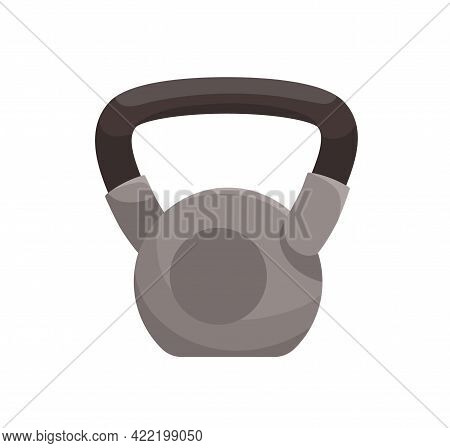Heavy Kettlebell With Handle. Kettle Bell For Exercises With Free Weights. Athletic Equipment For Tr