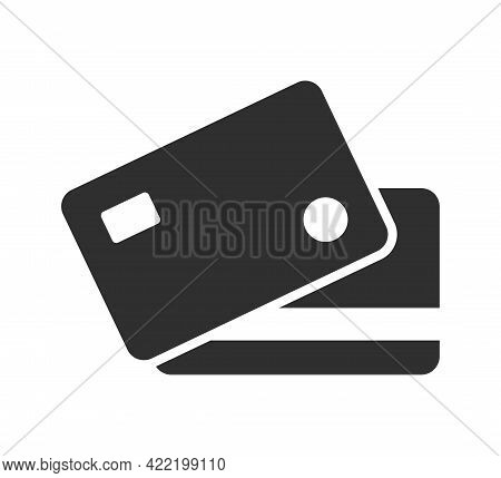 Bank Card, Credit Card Icon. Payment Sign. Vector Illustration.