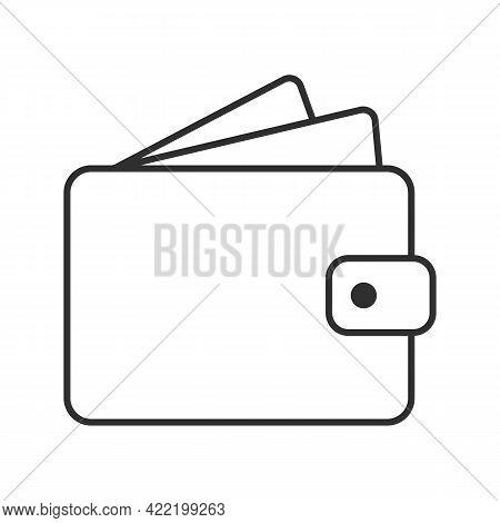 Wallet Icon. Wallet Line Sign. Vector Illustration.