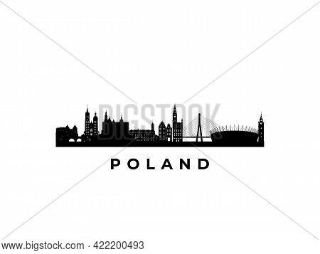 Vector Poland Skyline. Travel Poland Famous Landmarks. Business And Tourism Concept For Presentation