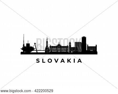 Vector Slovakia Skyline. Travel Slovakia Famous Landmarks. Business And Tourism Concept For Presenta