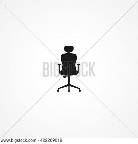 Office Chair Armchair Simple Isolated Vector Icon. Office Chair Armchair Simple Isolated Vector Icon