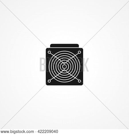 Asic Miner Simple Isolated Vector Icon. Asic Miner Simple Isolated Vector Icon. Asic Miner Simple Is