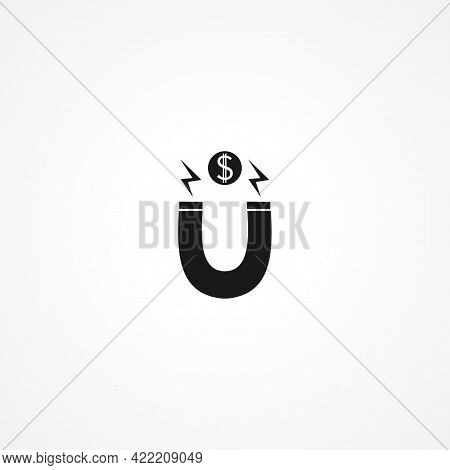 Attract Simple Isolated Vector Icon. Attract Simple Isolated Vector Icon. Attract Simple Isolated Ve