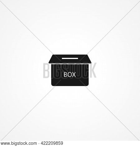 Ballot Box Simple Isolated Vector Icon. Ballot Box Simple Isolated Vector Icon. Ballot Box Simple Is