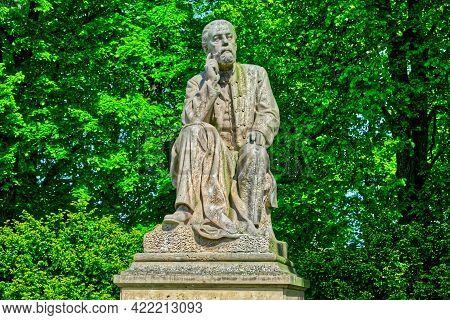 Statue Of Composer Bedrich Smetana Well Lit