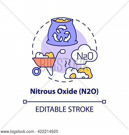 Nitrous Oxide Concept Icon. N2o Abstract Idea Thin Line Illustration. Greenhouse Gas. Nitrogen-based