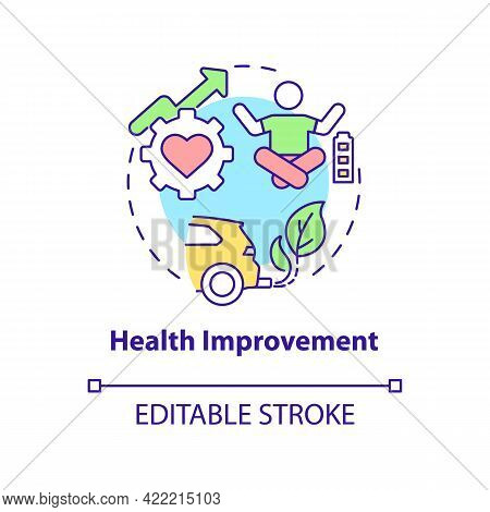 Health Improvement Concept Icon. Carbon Offsetting Benefit Abstract Idea Thin Line Illustration. Pub