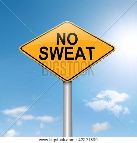 No Sweat Concept.