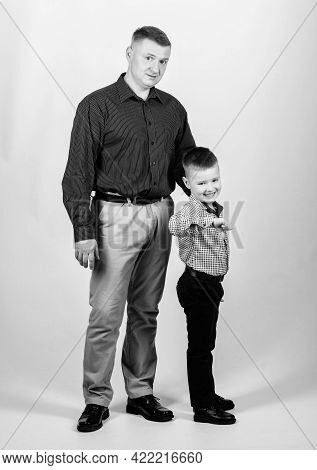 Real Men. Trustful Relations Father And Son. Father Little Son. Best Friends. Dad And Adorable Child