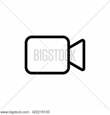 Video Camera Icon Isolated On White Background. Video Camera Icon In Trendy Design Style For Web Sit