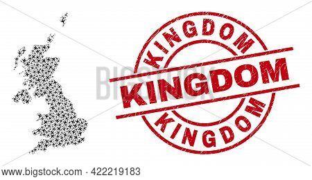 Kingdom Distress Badge, And United Kingdom Map Mosaic Of Air Force Elements. Mosaic United Kingdom M
