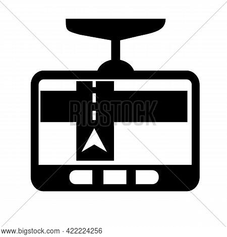 Gps Navigation Icon On White Background. Car Sat Nav Sign. Navigation Symbol. Flat Style.