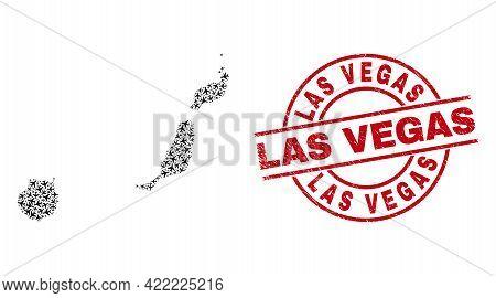Las Vegas Rubber Badge, And Las Palmas Province Map Collage Of Aviation Items. Collage Las Palmas Pr