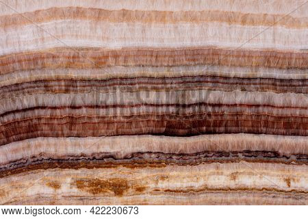 Excellent Rainbow Onyx Background, Texture In Your Admirable Brown Tone For New Interior Look.