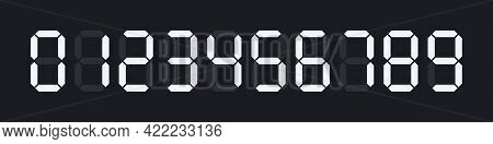 Digital Numbers Set For Electronic Watches, Calculators Or Any Other Devices With Lcd Screens. Vecto