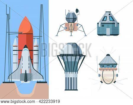 Astronomy Set. Exploring Universe Science Collection Shuttle Telescope Planetarium Astronomical Buil
