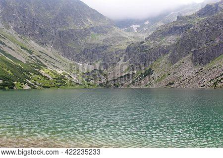 Glacial Lake In The Mountains, Tatras, Poland, Czarny Staw G