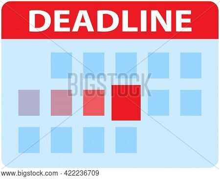Calendar With Red Marked Dates. Scheduling Time And Timetable To Deal With Deadlines. To-do Schedule