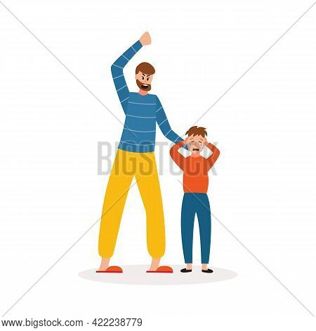 Abusive Father Beating Up Son - Child Abuse And Family Violence