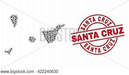 Santa Cruz Grunge Seal, And Santa Cruz De Tenerife Province Map Collage Of Air Force Items. Collage