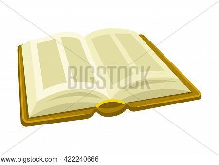 Illustration Of Torah Book. Jewish Law. Ancient Parchment.