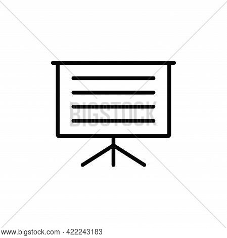 Presentation Icon Isolated On White Background. Presentation Icon In Trendy Design Style For Web Sit