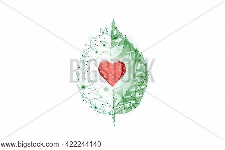 Plant Tree Ecological Abstract Concept. 3d Render Seedling Tree Forest. Save Planet Earth Nature Env