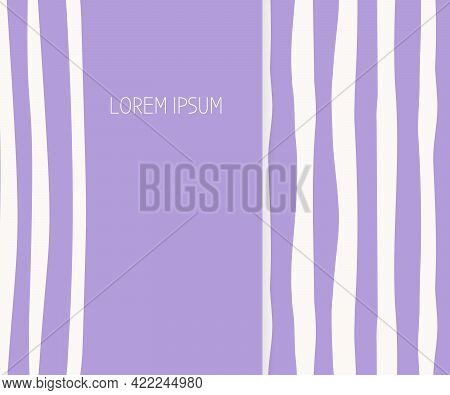 Cover Blank Card . Abstract Seamless Pattern. Limitless Stylish Minimalistic Background With Hand Dr